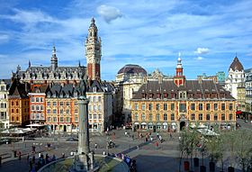 Lille - vue de la grand'place
