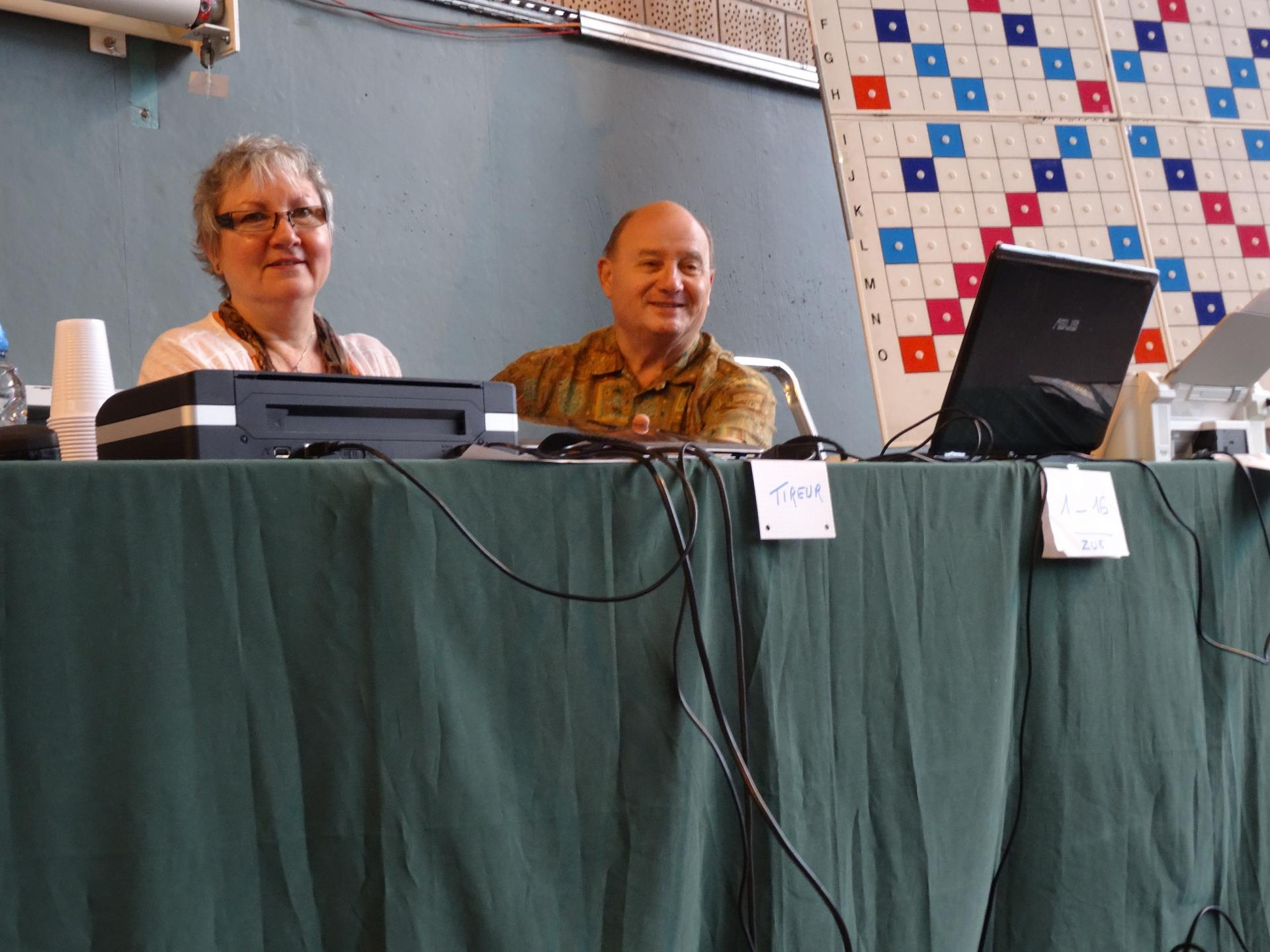 Micheline, présidente du club du Touquet - Jean, trésorier du comité